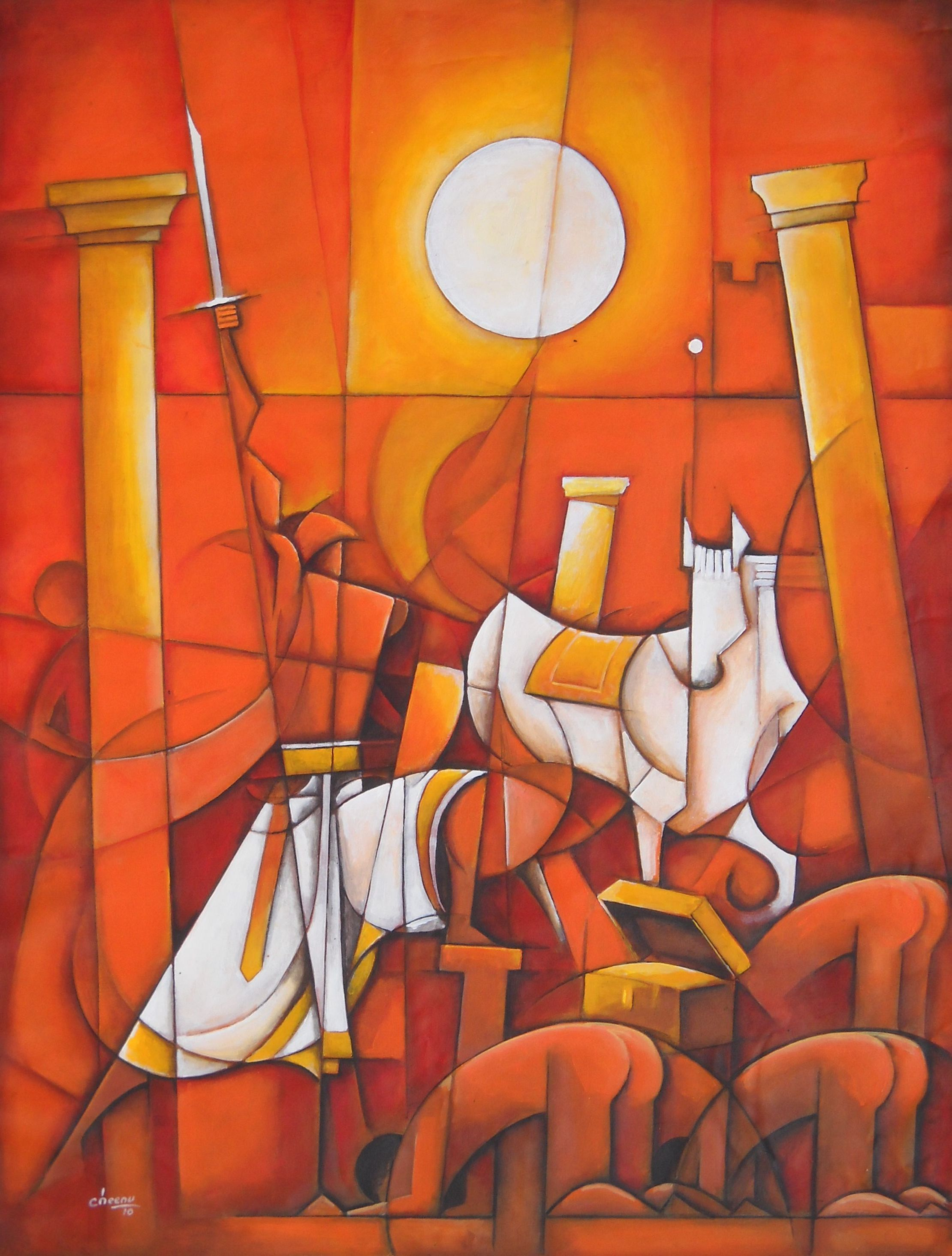 Span Styledisplaynonechennai Artist Painter Contemporary Indian Art